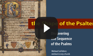 Shape of the Psalter